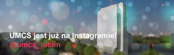 """Zmodyfikowane zdjęcie rektoratu z napisem """"UMCS jest już na Instagramie! @umcs_lublin"""""""