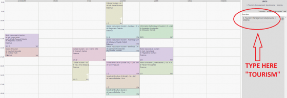 Enter schedules page