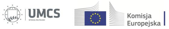 Logo Wydziału Politologii i Komisji Europejskiej