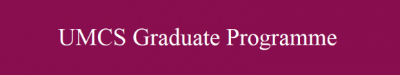 UMCS Graduate programme
