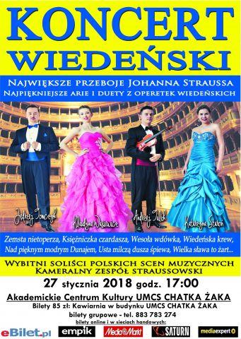 Koncert Wiedeński - plakat