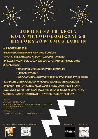 Plakat Jubileusz 10-lecia KMH UMCS Lublin.jpg