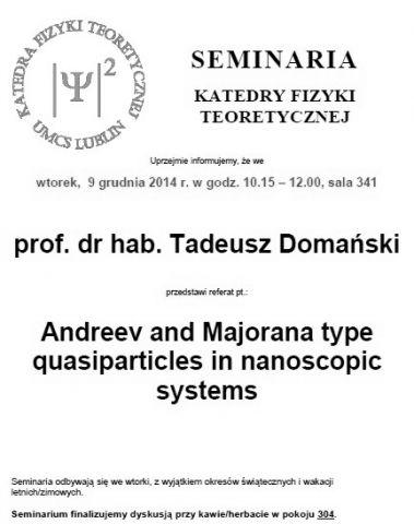 Seminarium KFT IF UMCS - 9.12.2014 r.