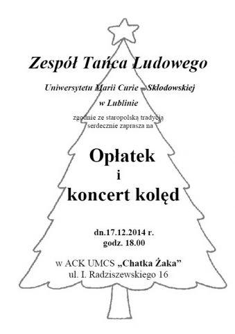 Koncert kolęd - 17.12.14 r.
