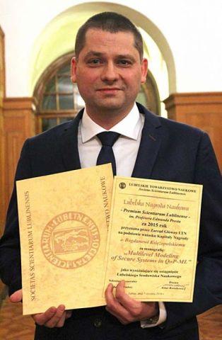 dr Bogdan Księżopolski - laureat Lubelskiego Nobla 2016 r..JPG