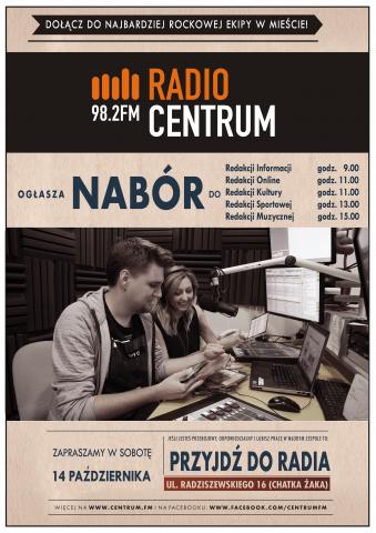 Plakat Radio Centrum - nabór 2017