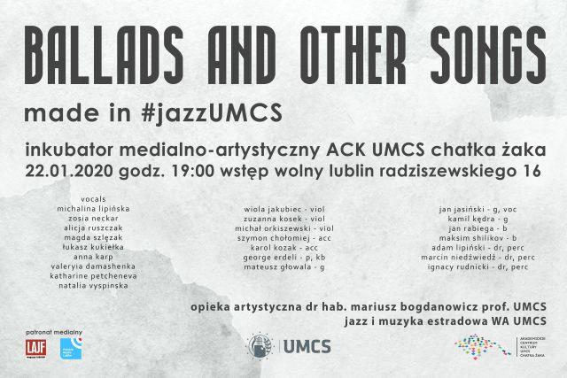 Ballads adn Other Songs Made in #jazzUMCS plakat.jpg