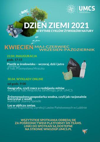Dzień Ziemi UMCS 2021_plakat