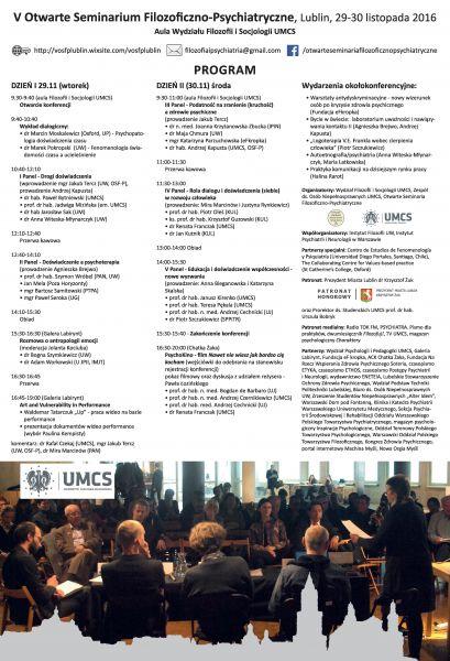 V Otwarte Seminarium Filozoficzno-Psychiatryczne - plakat L.jpg