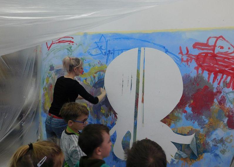Wizyta małych artystów w Instytucie Sztuk Pięknych