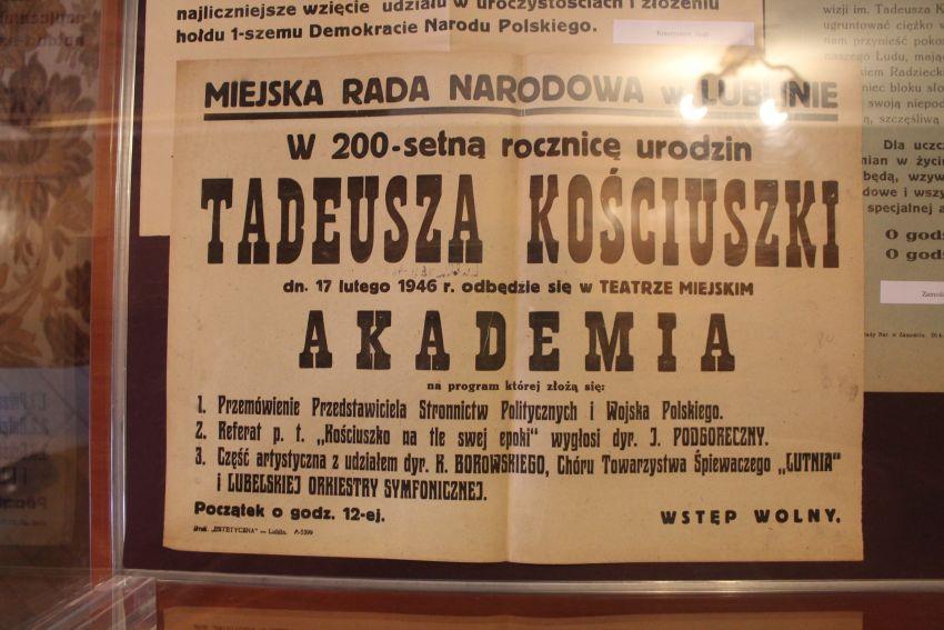 """Wernisaż wystawy """"Nasz Kościuszko"""" - 6 X 2017 r."""