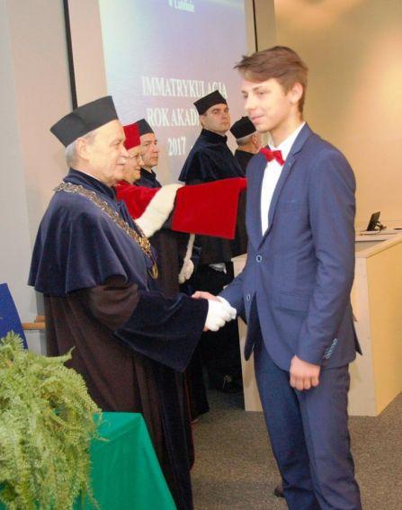 Immatrykulacja studentów na Wydziale MFI - Rok akademicki...