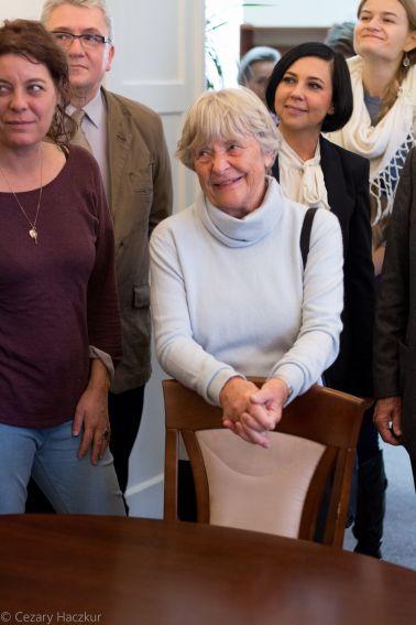 Wizyta wnuków Marii Curie-Skłodowskiej