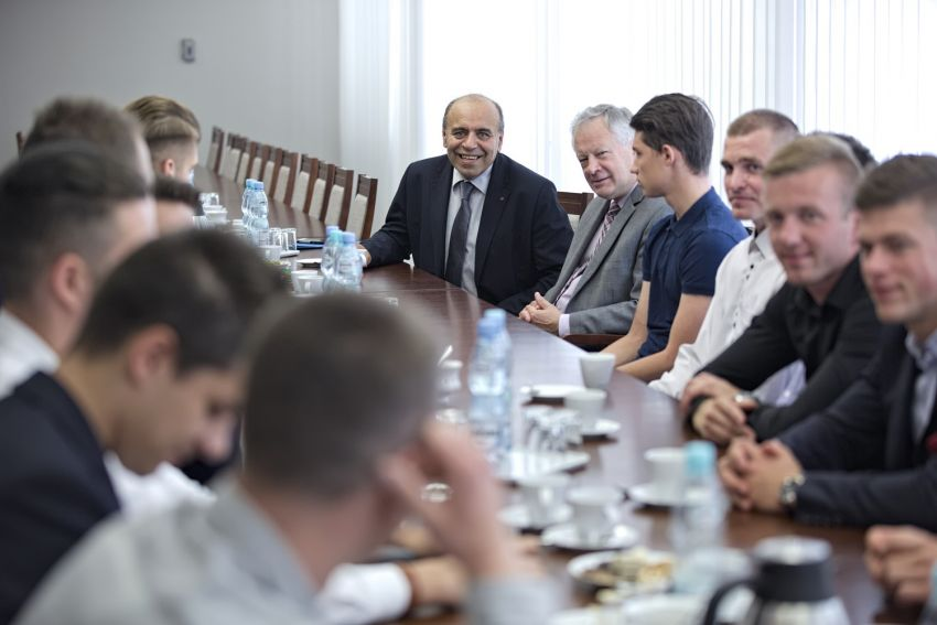 Spotkanie Rektora z piłkarzami UMCS