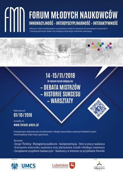 Plakat Forum Młodych Naukowców