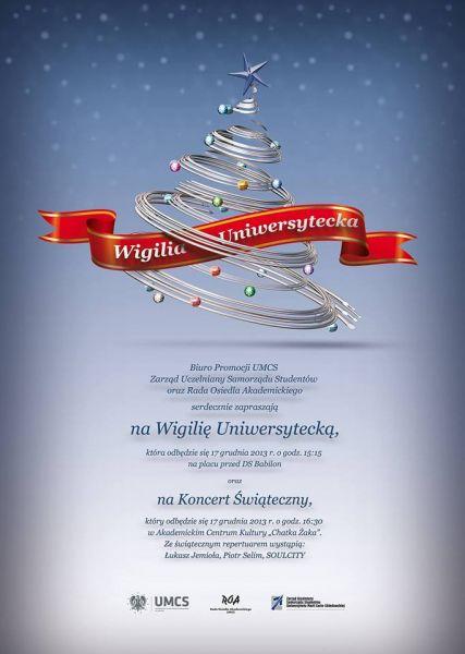 Wigilia Uniwersytecka 2013